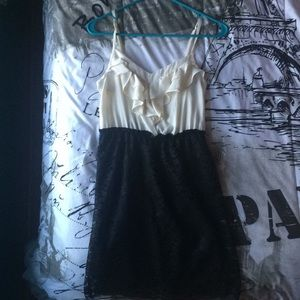 Black and White Cocktail Dress